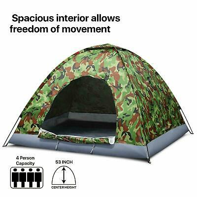 3-4 Man Persons Automatic Pop Up Tent Outdoor Hiking Festival Camping Fishing UK