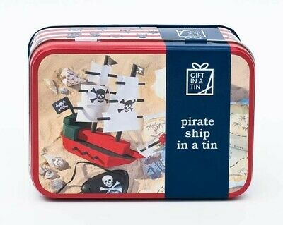 Pirate Ship in a Tin Craft kit. Makes a great gift for both adults and kids.