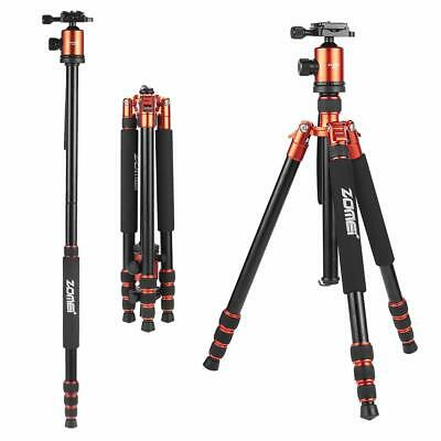 ZOMEI Pro Aluminum Travel Tripod Monopod Ball Head Portable for DSLR Camera 818