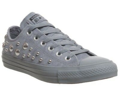 fea33dce88f4 Femmes Converse All Star Bas Baskets Cuir Gris Cool Multi Clou Exclusif Tra