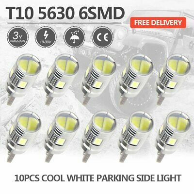 White T10 LED 6SMD W5W 5630 168 194 Car Wedge Dash Canbus Parking Side Lights
