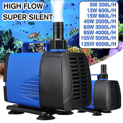 220V Submersible Water Pump Fish Tank Aquarium Pond Fountain Spout Feature Pump