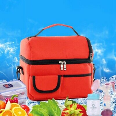 Insulated Lunch Bag Containers For Adults Women Men Thermos Cooler Tote Food YLu