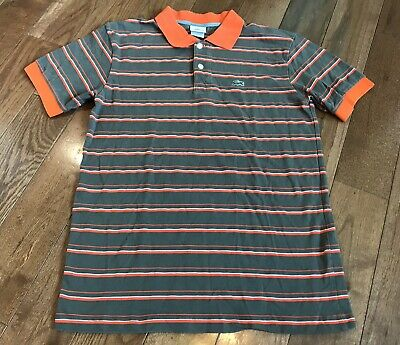 6f4bdd4b96b66 LACOSTE MENS POLO Shirt Vintage BROWN Top 5 LARGE L Casuals Devalay ...
