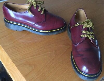 Vintage Dr Martens cherry red leather shoes UK 3 EU 36 Made in England