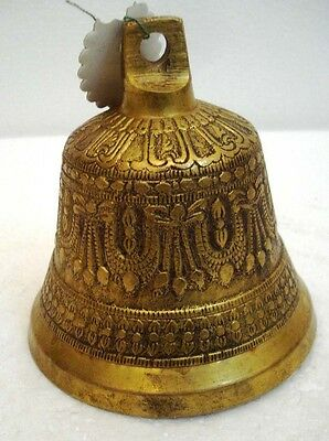 BRASS Bell - Marine / Religion / Spiritual - Height: 4 - Weight: 0.725 (1390)