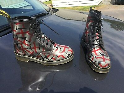 Vintage Dr Martens 1460 St Georges red white leather boots UK 6 EU 39