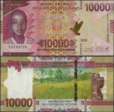 Guinea,PNew, 10000 Francs,Pnew,B343,2018 ,UNC,new size @ EBS