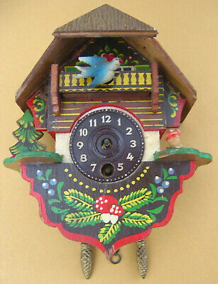 Vintage German Mini Cuckoo Clock for Restore Spare Parts