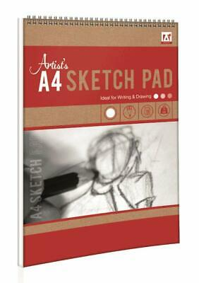 A4 Sketch & Drawing Pad Book Artist Sketching Flip up 50 Sheets 100 Pages 70gsm