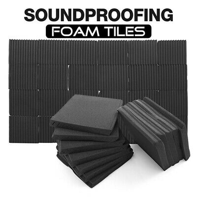 36pcs/Pack Soundproofing Acoustic Foam KTV Studio Wall Panels Tiles Foam 30x30cm