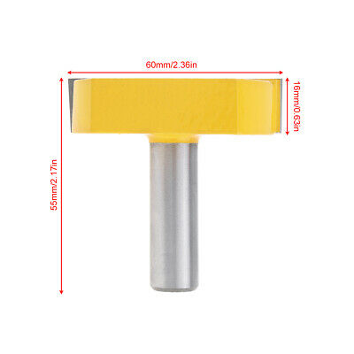 55mm Cleaning Bottom Groove Router Bits Teeth Wood Milling Cutter 12mm Shank