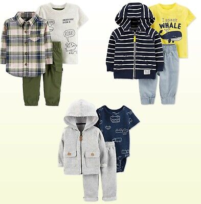 Baby Boys 3-Pc. Set Carters Dino , Car, Whale  Layered Sets New MSRP: $38.00