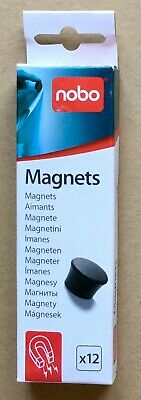 Nobo Assorted colour Magnets No. 1901102 pack of 12