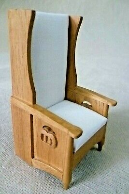Dolls House Emporium Charles Rennie Mackintosh Lady's Reading Chair 3400 - Rare
