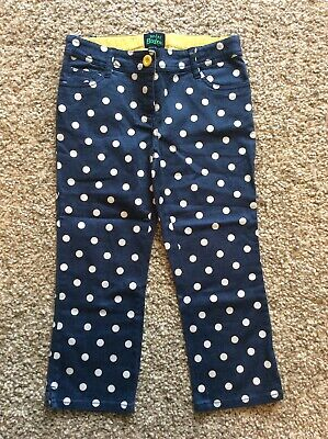 Mini Boden Blue Spotty Cropped Trousers Size 10 Years