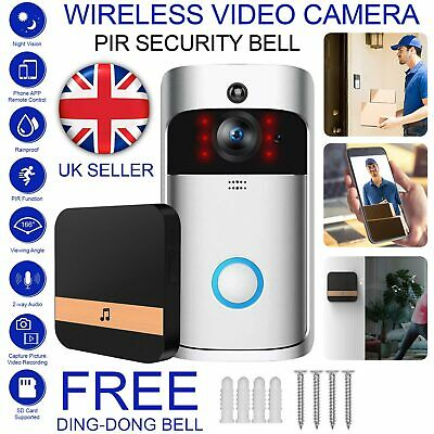 WiFi Smart  Doorbell Camera Video Wireless Remote Door Bell CCTV Chime Phone UK