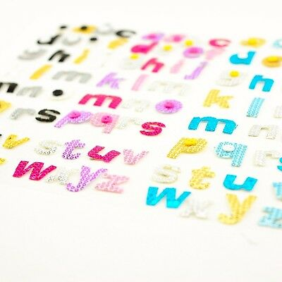 Pack of 30 Self Adhesive Fabric Letters Alphabet Embellishment Knitting Sewing