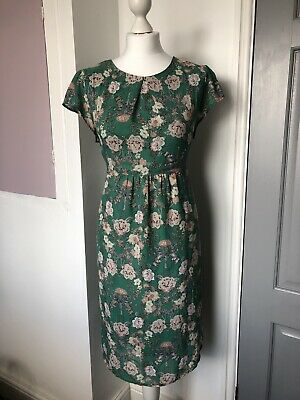 New Look Green Floral Maternity Dress Size 14