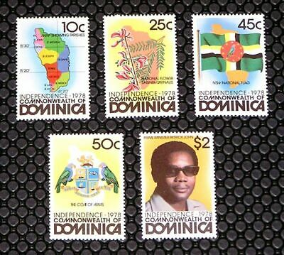 Dominica 602-606 Independence MNH