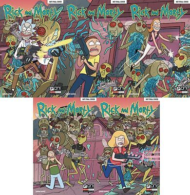 Rick & Morty 50 Issues Special Variant 5 Comic Lot #1 2 3 4 5 (Oni Press 2019)
