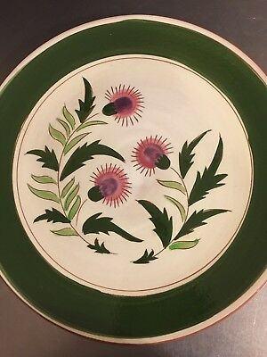 Stangl Pottery Thistle Chop Plate Serving Platter Mid Century Dinnerware Made US