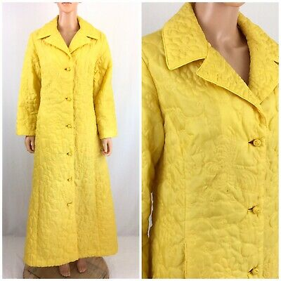 Vtg. 1960s Quilted Dressing Gown Robe Duster Hong Kong Barbara Lee MOD Lounge 14