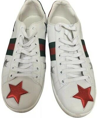 ea82d76d2 GUCCI ACE BEE-EMBROIDERED High-Top Leather Trainers in White ...