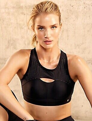 M&S Rosie for Autograph Active Extra High Impact Crop Top/Sports Bra 32C NWT