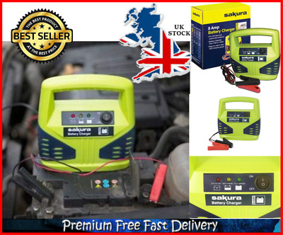 Car Battery Booster 12V Power Pack Charger With LED Gauge 8 Amp For 2.5L Engine