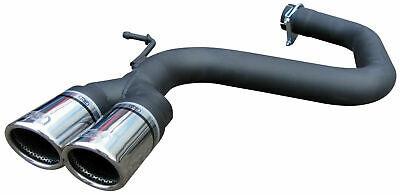 VW Scirocco 2.0 TSi Exhaust Rear Silencer Delete Tailpipe ULTER Twin 70mm