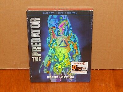 2018 The Predator Blu Ray + DVD + Digital Target Exclusive 36 Page Book, Sealed