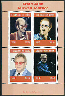 Chad 2019 MNH Elton John 4v M/S Music Celebrities Famous People Stamps