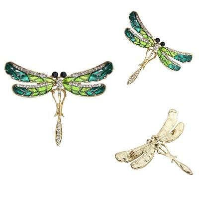 Women Jewelry Alloy Rhinestone Dragonfly Insects Broaches Pin Brooch EA9 01