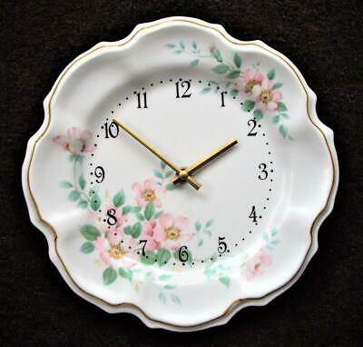 Wild Rose Plate Wall Clock - Battery Movement