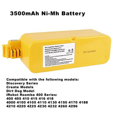 14.4V 3500mAh Replacement Battery Compatible with iRobot Roomba 400 Series