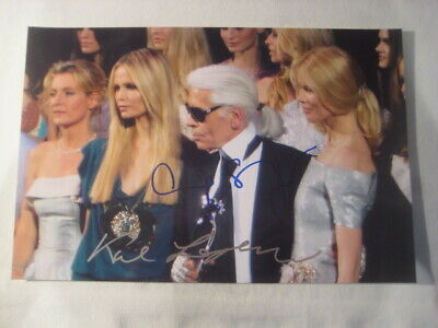 Photo Foto Karl Lagerfeld Claudia Schiffer Cindy Crawford Haute Couture RéfC880