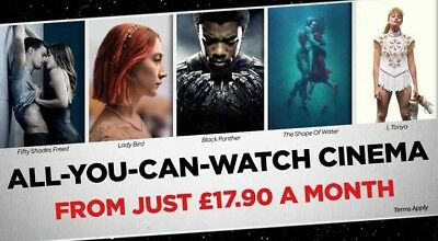 1 x Cineworld Unlimited 12 Months Excl West End - Limited Offer [ Renew / New ]