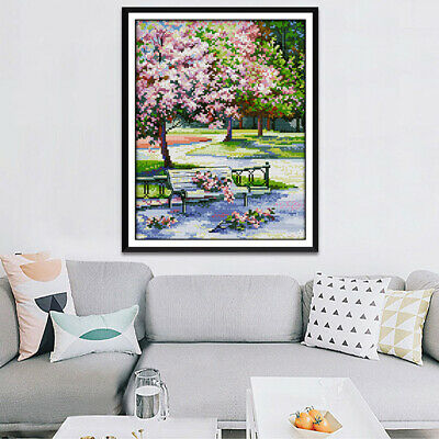 Unfinished Diy Ribbon Embroidery Peach Blossom Painting Picture Wall Decor