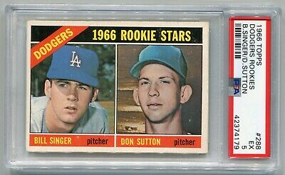 1966 Topps Don Sutton Rookie Card 288 Psa 5 La Dodgers Just Back From Psa
