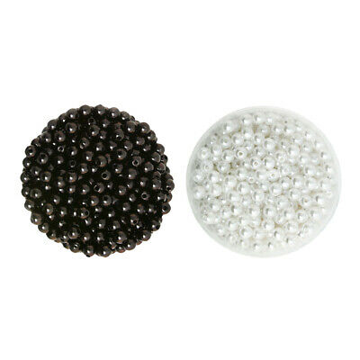 1000 pcs 6mm Plastic Round Pearl Spacer Loose Bead DIY Jewellery Making