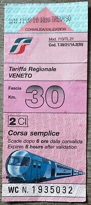 Ticket de de train Italien