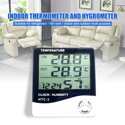 2582 Black White Humidity Meter Convenient Digital Thermometer Greenhouse ABS