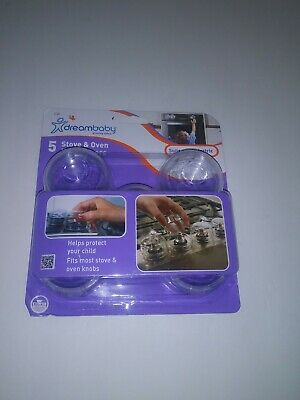 Dreambaby Child Safety Oven Knob Covers L730 Set of 5  NEW