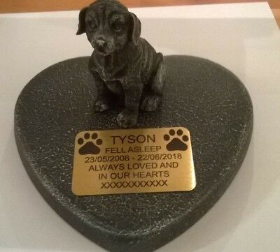 Dog Large Pet Memorial/headstone/stone/grave marker/memorial with plaque 31