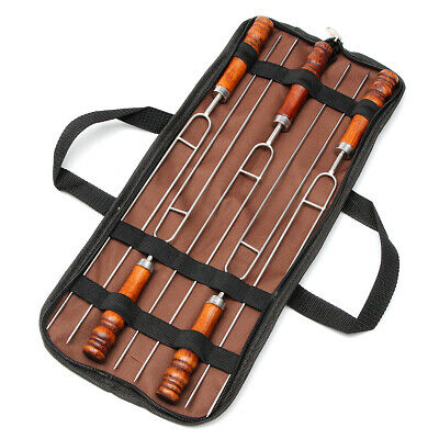 Outdoor 5Pcs Barbecue Tools Set Picnic BBQ Cooking Stainless Steel Meat Grill