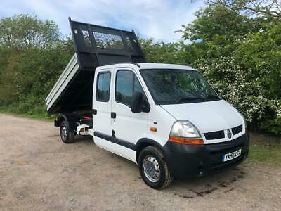2006 56 Renault Master 2.5 Dci 6 Speed Tipper Crew Cab Double Cab Alloy Pick Up
