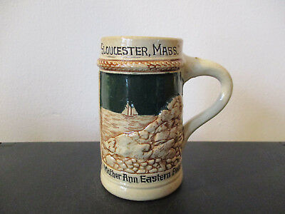 Circa 1910 Souvenir Stein Eastern Point Gloucester Massachusetts Germany *