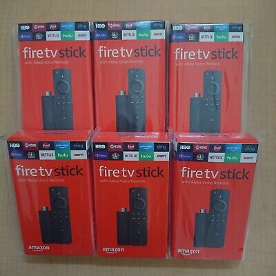 Lot Of 6X Amazon Fire TV Stick With Alexa Voice Remote 2nd Gen Latest Version