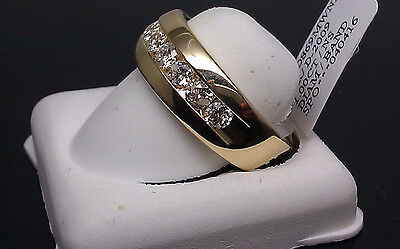 New 14K Yellow Gold 1.00CT Men's Band, Wedding Collection, Pinky Ring